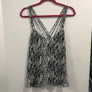 Patterned Tank with Back Detail